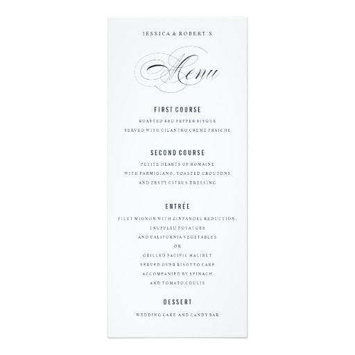 formal menu templates