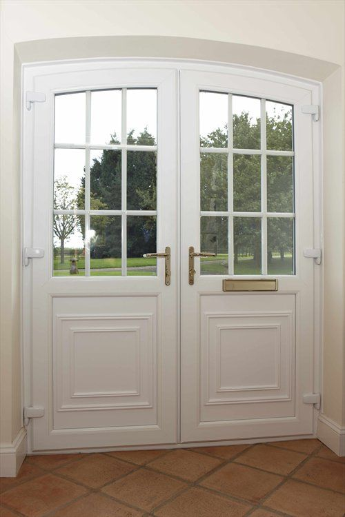 Rehau Double Entrance Doors Diy Upvc Doors Pinterest