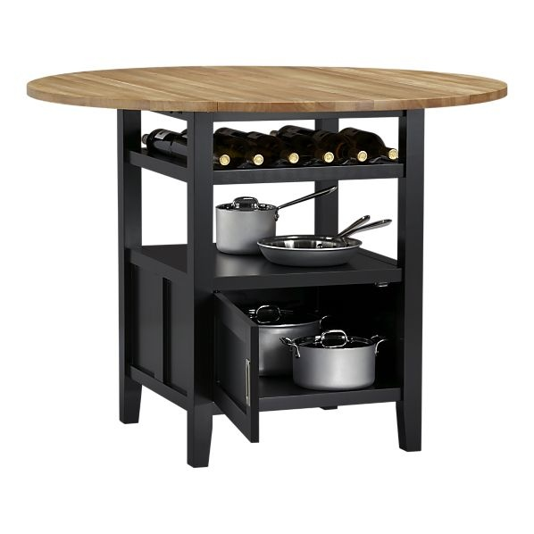 Kitchen table perfection. Belmont Black High Dining Table from Create & Barrel $499