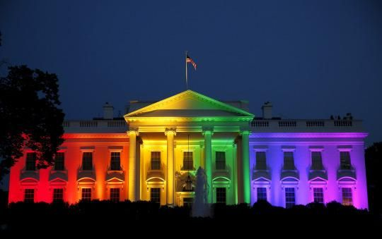 White House, buildings across the country light up in rainbow colors to celebrate gay rights