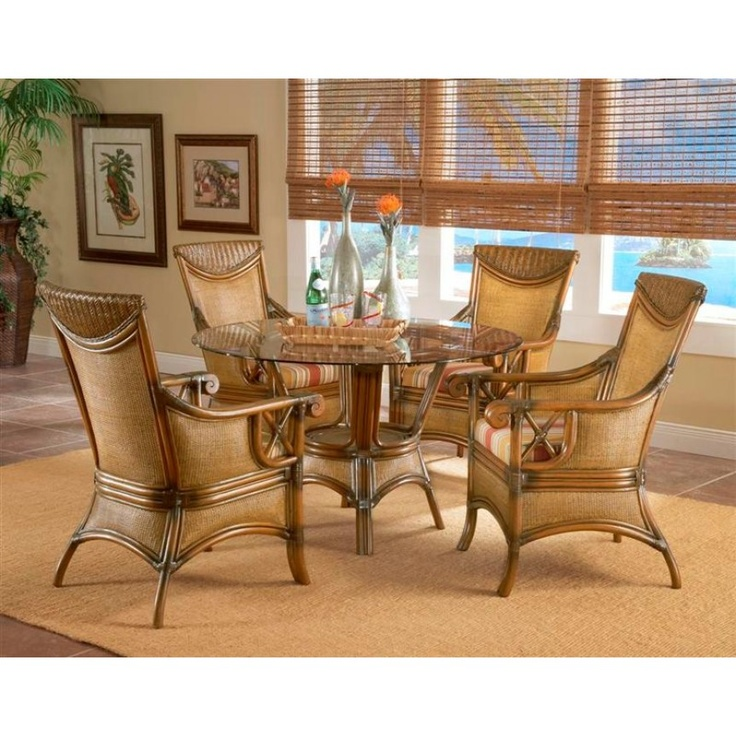 South Sea Rattan Pacifica Dining Arm Chair