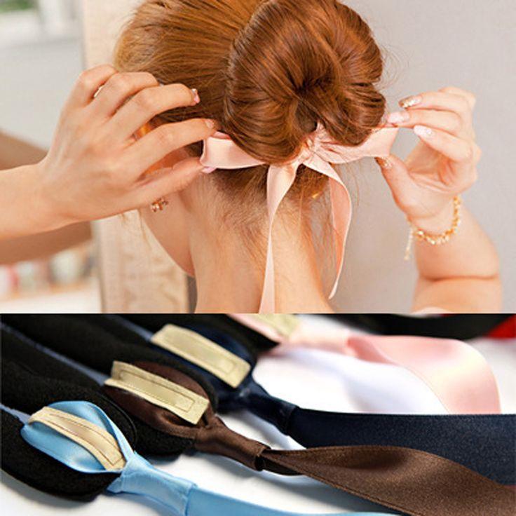 1 pcs vrouwen meisjes magic foam spons apparaat donut broodje maker haar broodje meisje haaraccessoires linten hoofdband haar banden