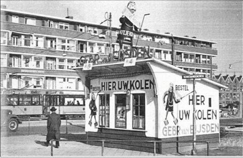 Rotterdam - Schiedamseweg, kolenhandel.