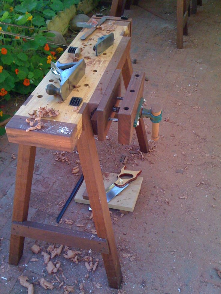 Portable Workbench | Work bench | Pinterest | Saw horses, Horses and Portable workbench
