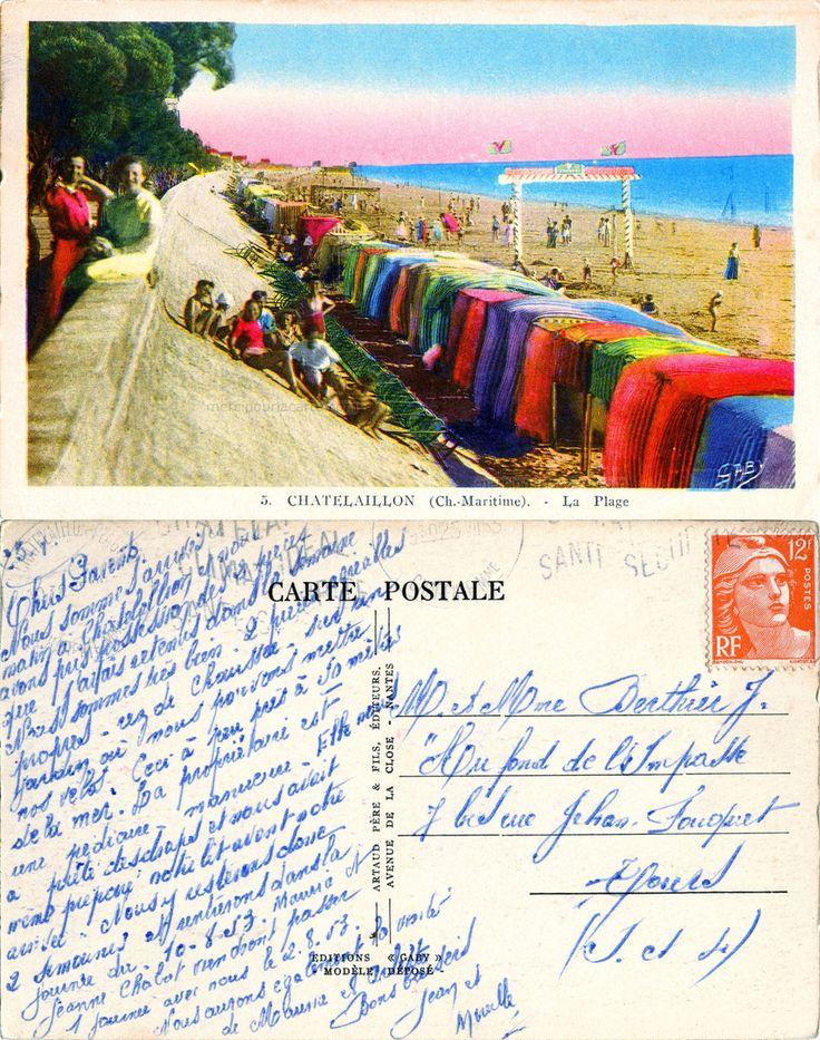 Châtelaillon - La Plage - 1953 (from http://mercipourlacarte.com/picture?/1951/)