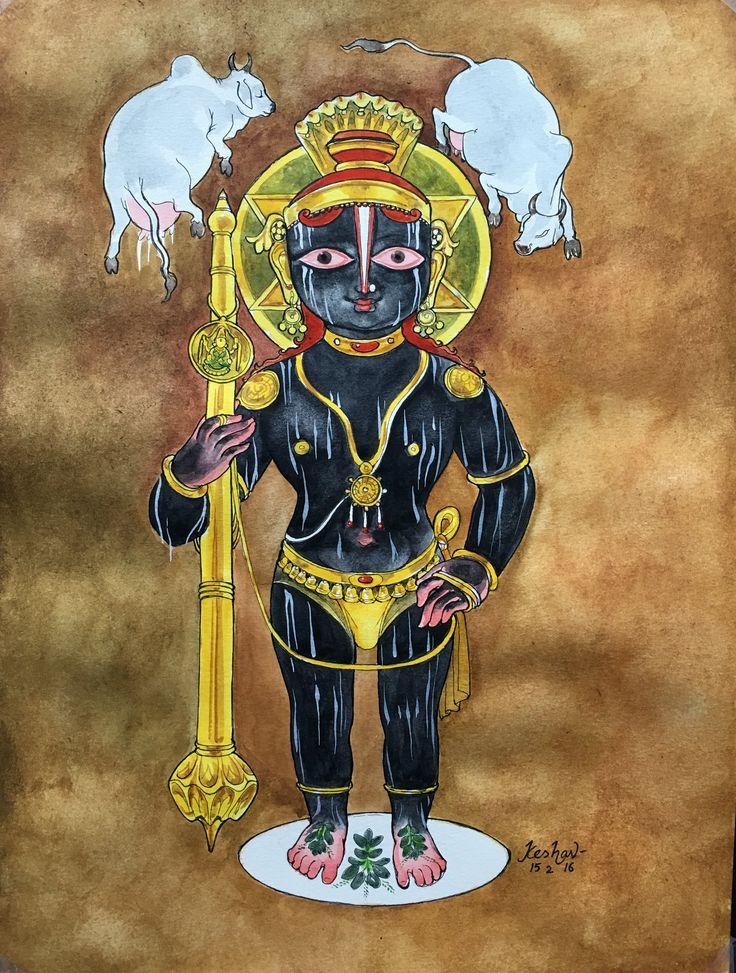 Udupi Krishna. #krishnafortoday #watercolor
