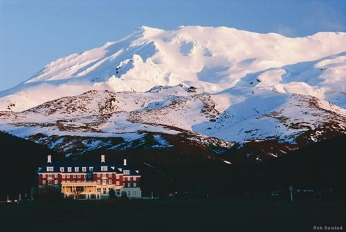 The Chateau Tongariro, at the foot of Mt Ruapehu, North Island, NZ.  After staying here once as a child, I went back as an adult and what do you know?  The magic of the place was still there :)