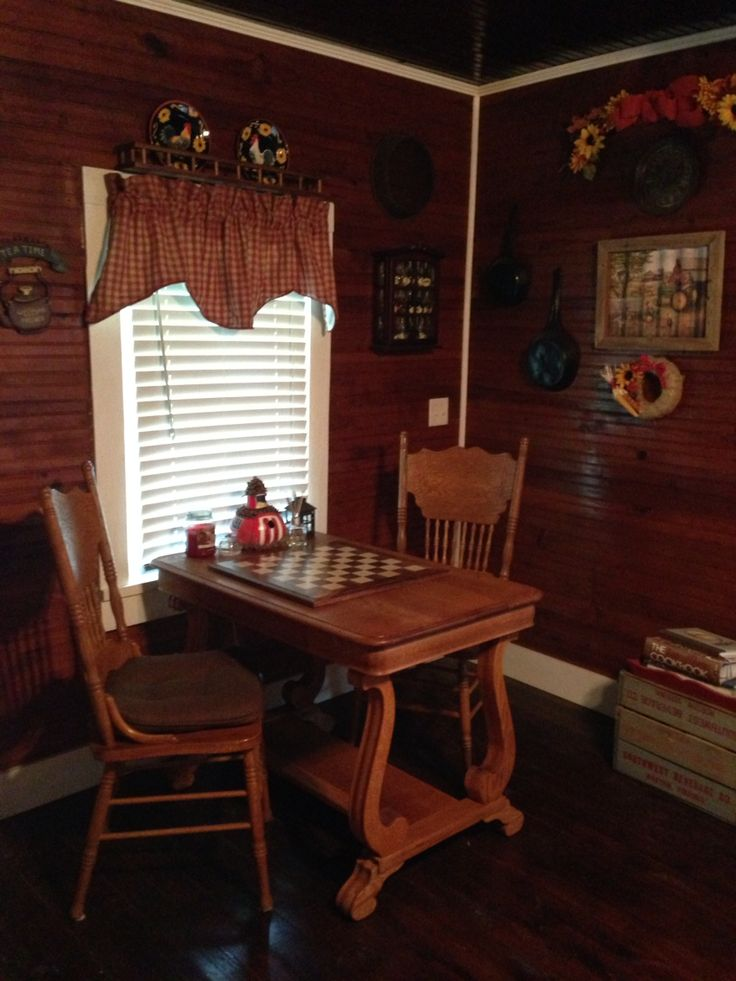 Tiger Oak library table refinished in the farmhouse country kitchen