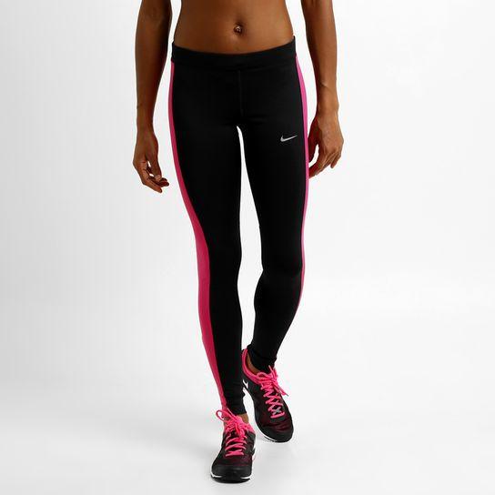 Calça Legging Nike Dri-Fit Pace Tight - Preto+Vermelho