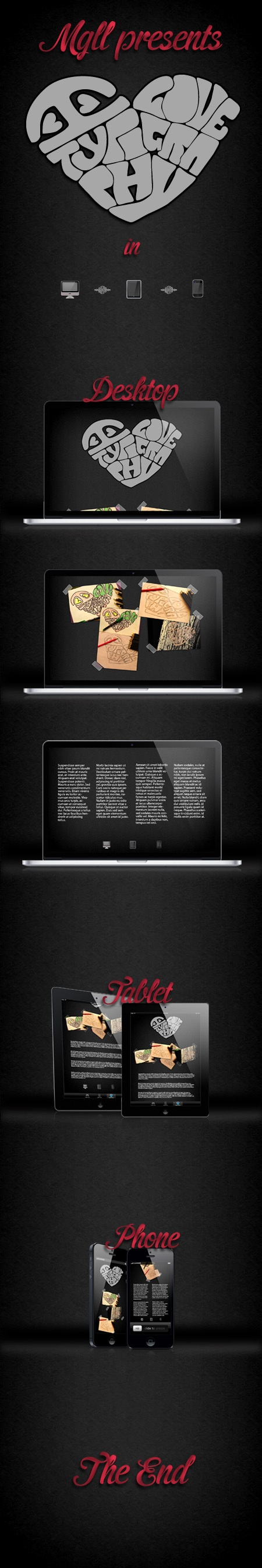 Typographic job made by media queries LL