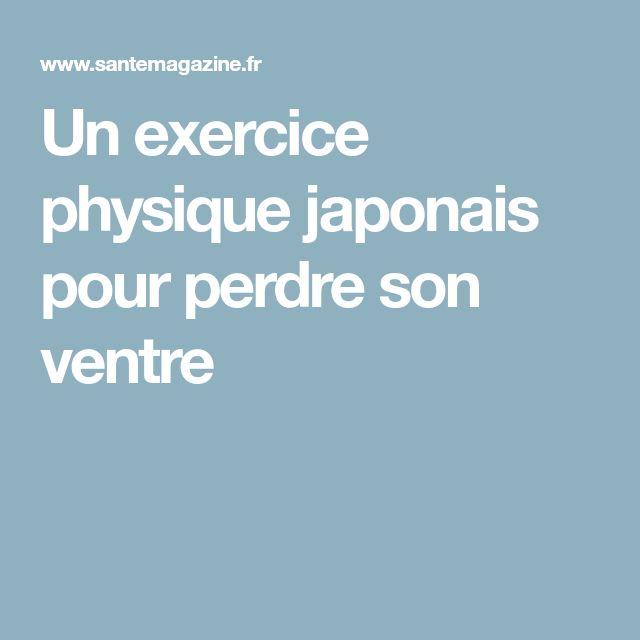 Un exercice physique japonais pour perdre son ventre