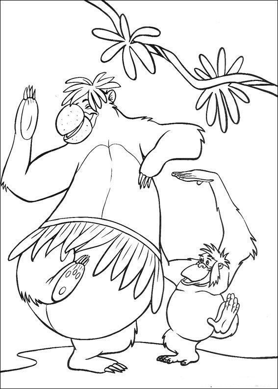 das dschungelbuch ausmalbilder 55  kindergarten