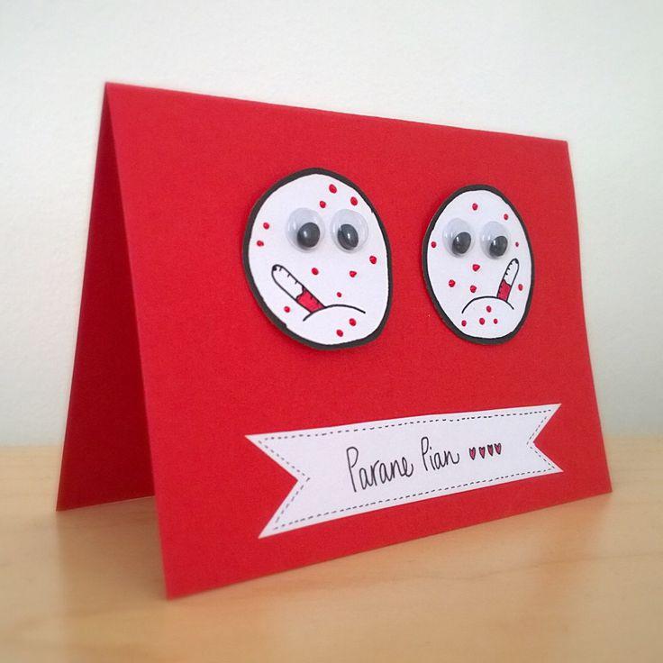 Get well card. <3  Parane pian -kortti.