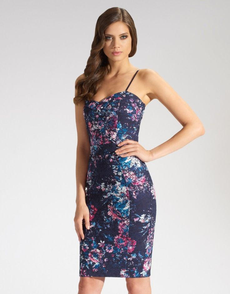 lipsy floral silhouette dress