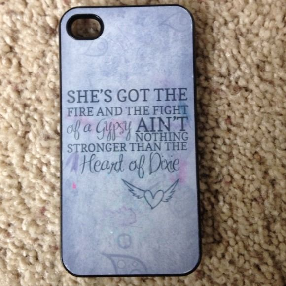 iPhone 4/4s case. Country. Heart of Dixie Country. Heart of Dixie song lyrics. iPhone 4/4s case Other