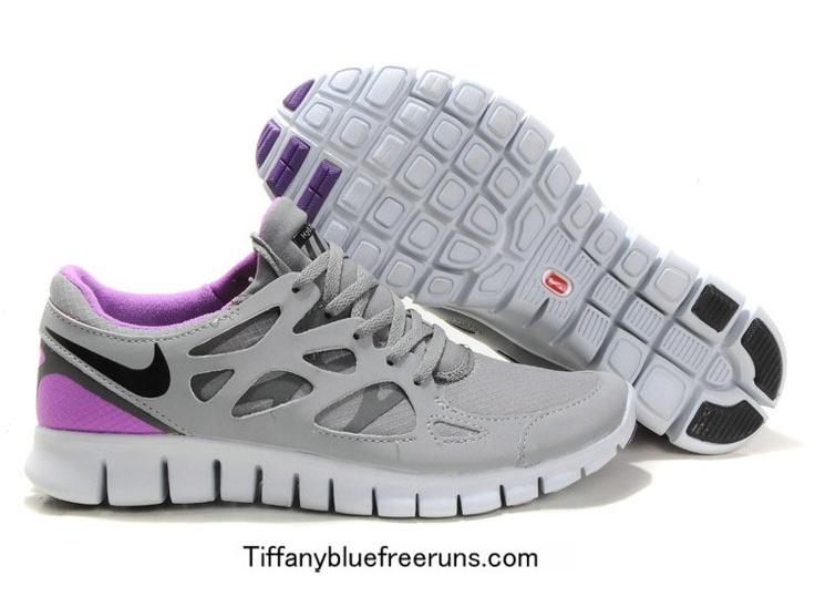 Nike Free Run 2 Peinture Gris Violet