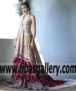 Gorgeous Bridal Anarkali Gown with Exquisite Embellishments Lehenga for Wedding and Special Occasions - New gowns are here! luxe, modern… which will you choose!? link to shop the Bridal collection + Gown www.libasgallery.com Online Shopping #UK #USA #Canada #Australia #France #Germany #SaudiArabia #Bahrain #Kuwait #Norway #Sweden #NewZealand #Austria #Switzerland #Denmark #Ireland #Mauritius #Netherland #extravaganza #Bride #Gown #Lehenga #OccasionDress #bestlook #bestdressed #bestoutfit