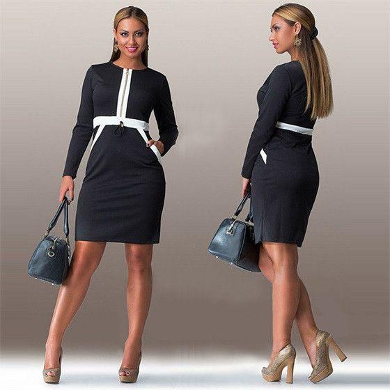 High quality fashion women dress Vestidos Sexy Party Dresses o-neck Long sleeve bodycon Dress