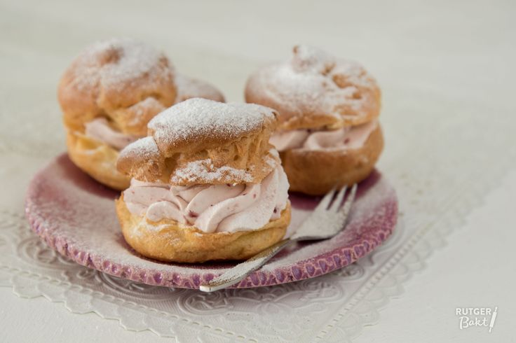 Recept: Frambozensoesjes / Recipe: Raspberry puffs