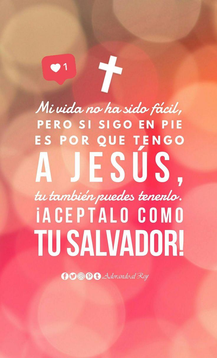 Mi vida no ha sido fácil, pero si sigo en pie es por que tengo a Jesús, tu también puedes tenerlo. ¡Aceptalo como tu Salvador! #Jesus #AdorandoalRey