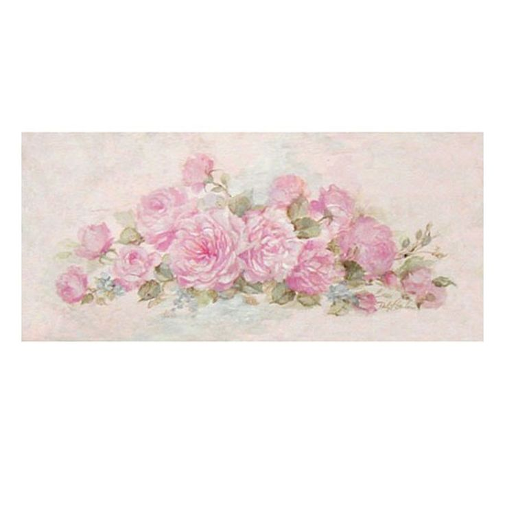 This beautiful canvas giclee print has just been released! Created from Debi's original painting, English Roses in various stages of bloom,