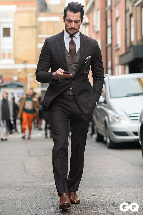 David Gandy, Street Style London Collection 2015 by Monsieur Jerome -  GQItalia.
