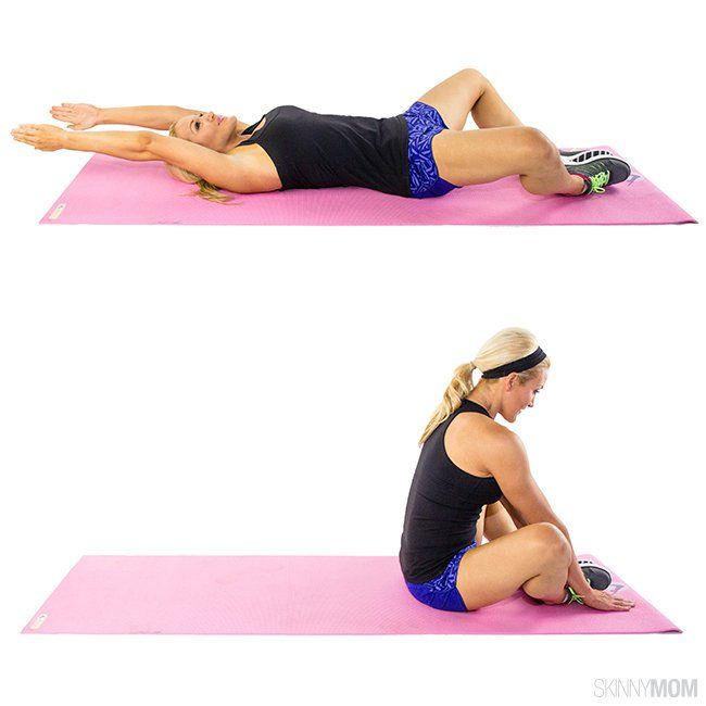 Butterfly Sit-Up (skinny mom)