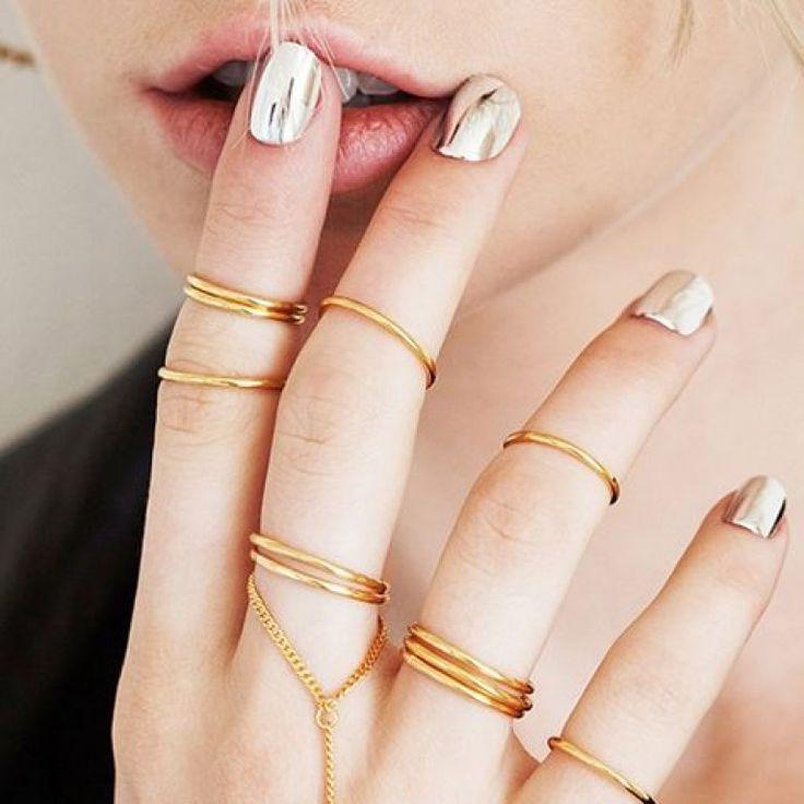 Oltre 25 fantastiche idee su unghie a specchio su pinterest - Polvere effetto specchio unghie ...