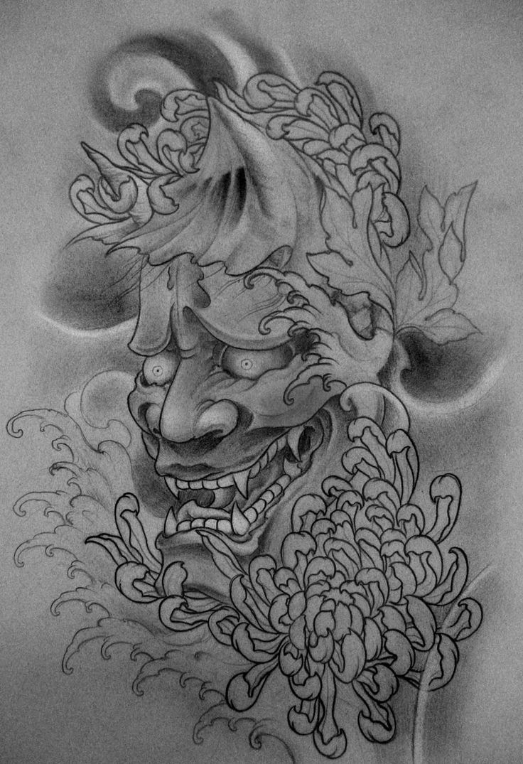 Japanese Demon Tattoo Sketch - Images for Tatouage