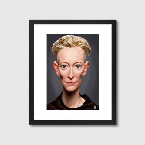 Celebrity Sunday - Tilda Swinton | Monde Mosaic art | decor | wall art | inspiration | caricatures | home decor | idea | humor | gifts