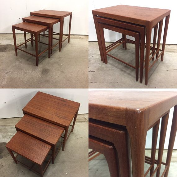 Danish mid-century nesting tables in teak