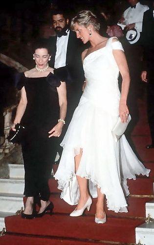 Princess Diana looking so beautiful.  I love this dress.  1991