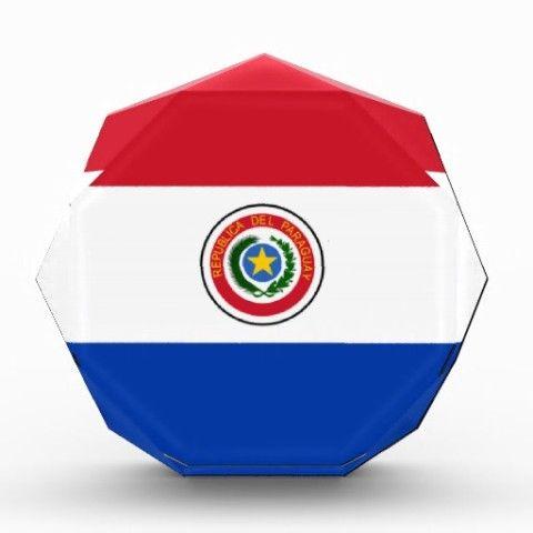 #Flag of #Paraguay #Acrylic #Octagon #Award