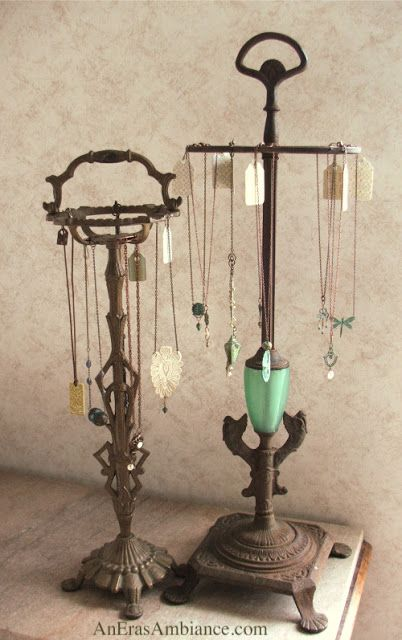 A Vintage Artist: Old Lamps as Necklace Display