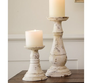 Easy Frugal Living: Pottery Barn White Pillar Candle Holder Hack. Uses old lamps