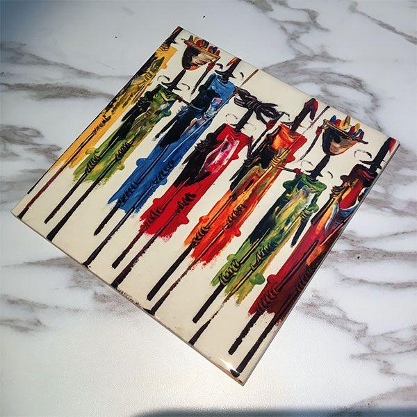 Abstract Art African Primitive Aboriginal Black Warrior Ceramic Bisque Tiles Bathroom Decor Kitchen Ceramic Tiles Wall Tiles  #Abstract #Art #African #Primitive #Aboriginal #Black #Warrior #Ceramic #Bisque #Tiles #Bathroom #Decor #Kitchen
