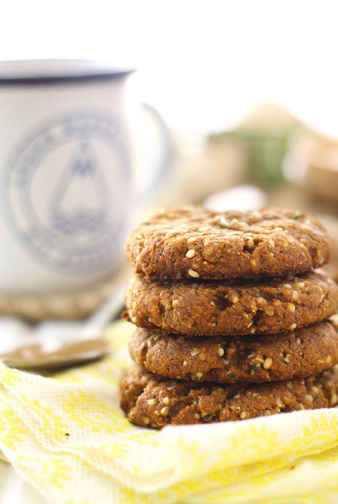 Almond Butter Hemp Seed Cookies - The Healthy Maven