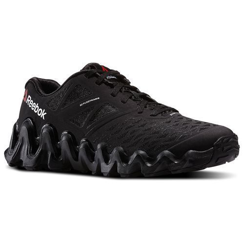 REEBOK Men's ZigTech Big N Tough Running Shoes Black/White M47661 #Reebok #RunningCrossTraining