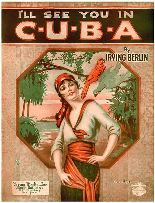 Vintage Song Poster - I'll See You In Cuba - Irving Berlin