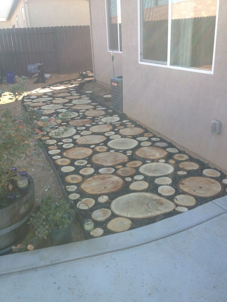 Wood Round Walkway In Our Backyard Things I Have Made