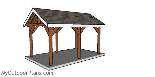 10x16 Pavilion Plans Myoutdoorplans Free Woodworking Plans And Projects Diy Shed Wooden Playhouse Pergola Bbq Woodworkingfurniturehowtouse I 2020