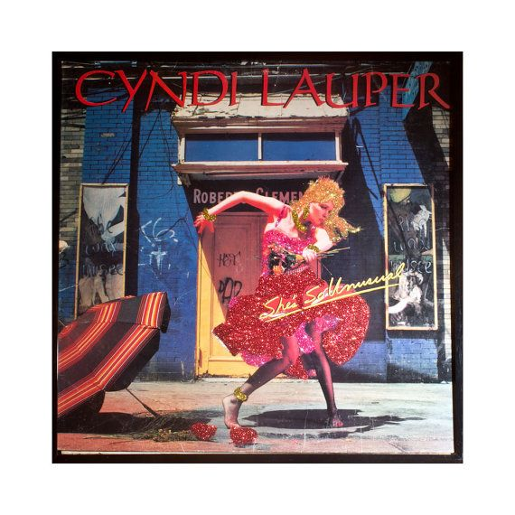 Glittered Cyndi Lauper Album Shes So Unusual @Vintage Vinyl @Cyndi Lauper