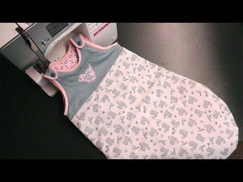 Schlafsack für Babys und Kleinkinder mit Reißverschluss nähen - YouTube