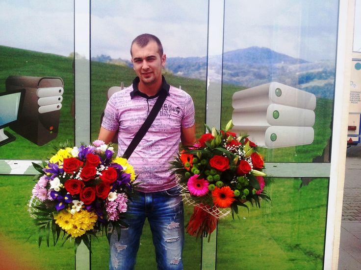 buchet de flori realizat pentru zile onomastice