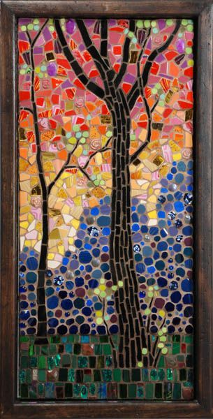 Last Light by Michael Sweere  Glass and ceramic mosaic.