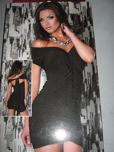 "NEU* Sexy, Carmen * Träger * Coktail *Abend * Mini- Kleid ""Chilirose"" Gr.38- 40/S- M, schwarz *"