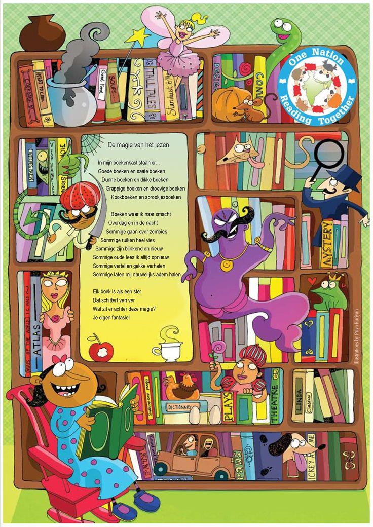 Poster lezen (vertaald van Engelse poster) 'De magie van het lezen'