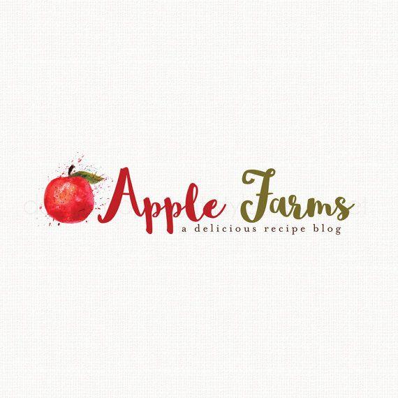 Apple Logo Design Fruit Logo Design by stylemesweetdesign on Etsy
