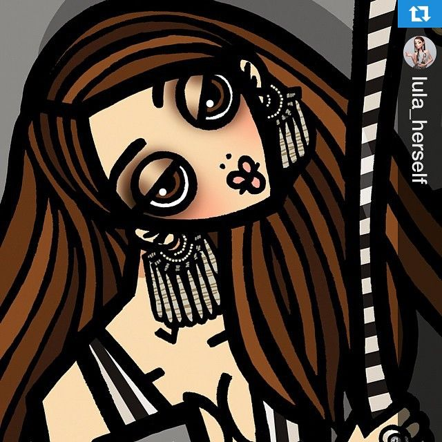 ❤️❤️ #Regram @lula_herself ・・・ Amazing face shot: Illustrator Gerardo Larrea interprets Lula for #HERSELFmagazine #TheHERSELFissue #lulaby (DETAIL) @ger_lar #illustration #fashionillustration #girl #donna #women #femme #illustrazione #like #likeit