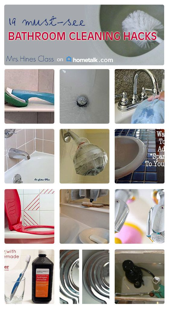 Here are some great cleaning hacks for your bathroom you won't want to miss!